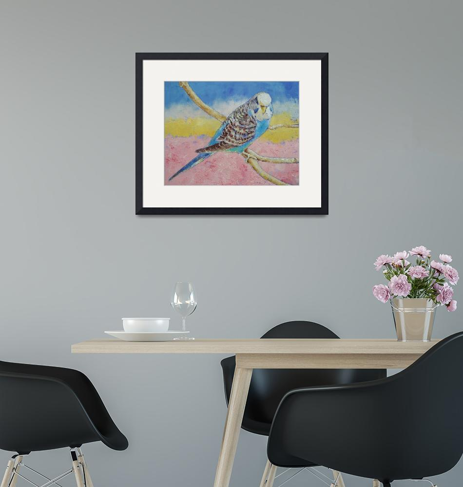 """""""Sky Blue Budgie""""  by creese"""