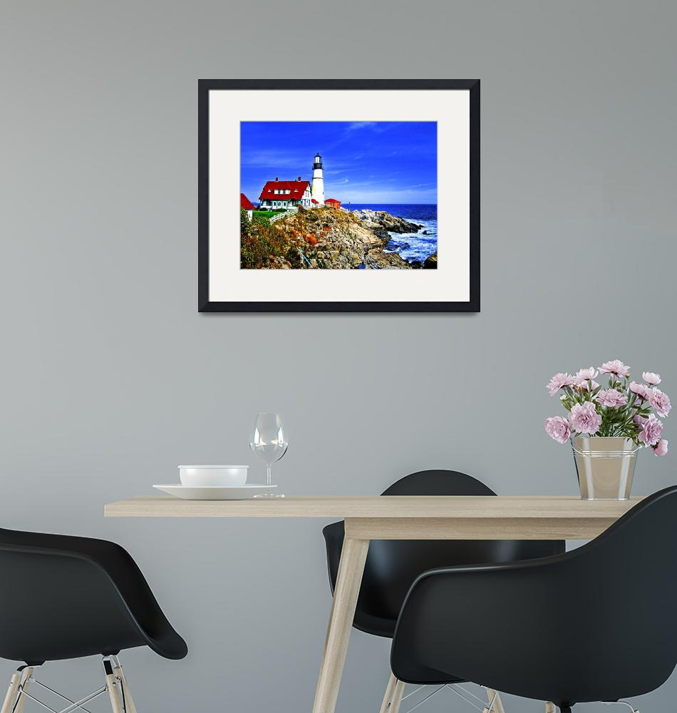 """""""Portland Head Light at Fort Williams Park, Maine""""  by New-Yorkled"""