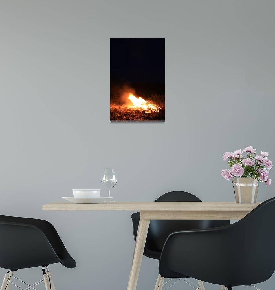 """North Beach Bonfire 9""  (2009) by dmarshall"