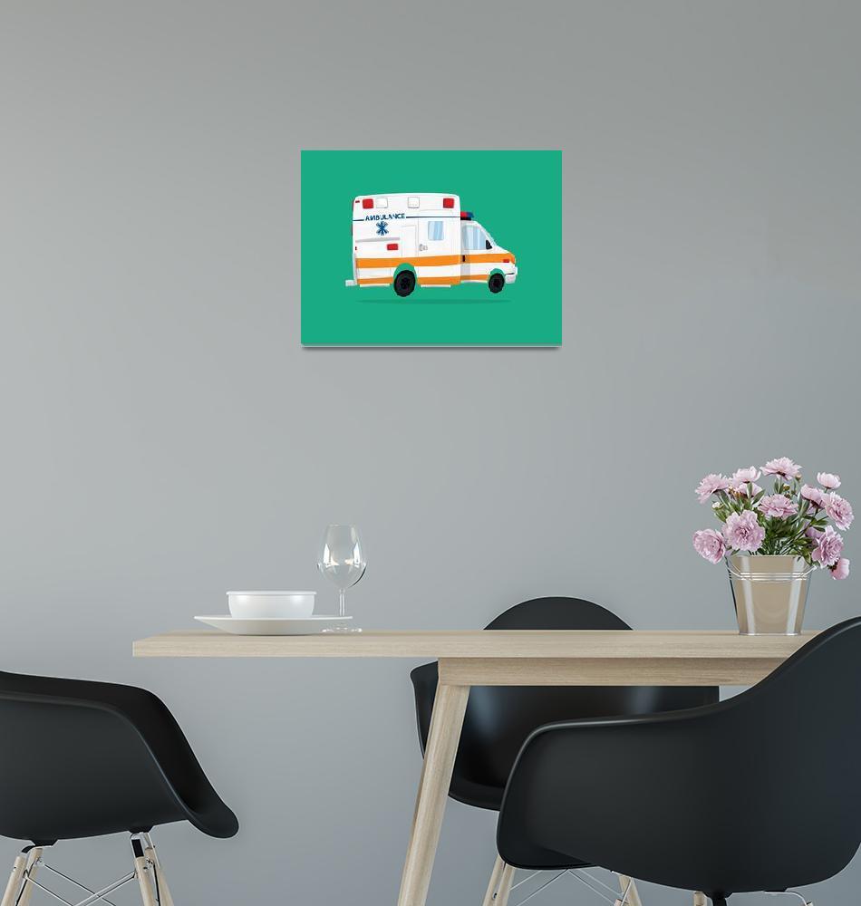 """""""Cute Ambulance""""  (2017) by nathanpoland"""
