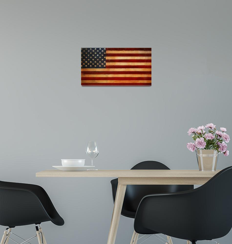 """Vintage American Flag #2""  (2009) by AV"