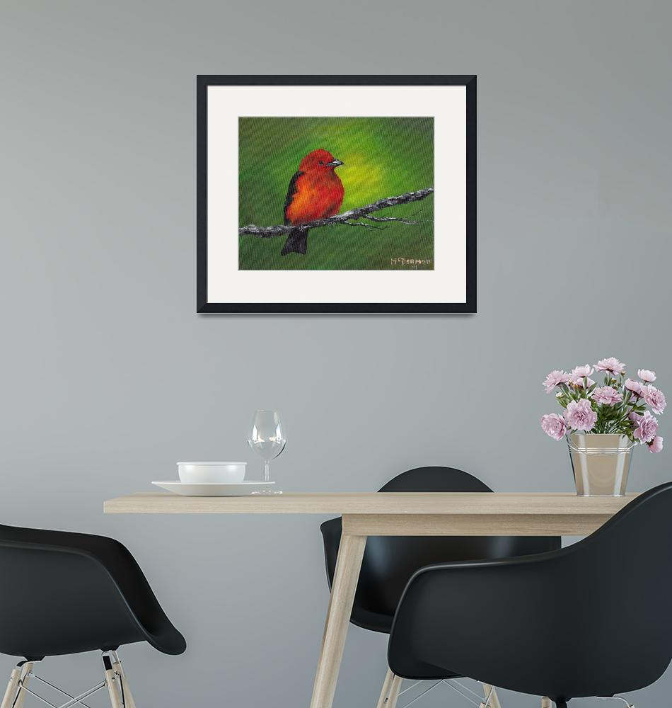 """""""Scarlet Tanager""""  (2011) by dreamersimage"""
