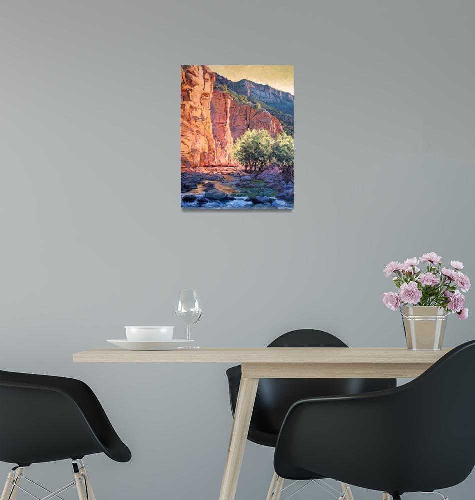 """Sedona West Fork""  (2004) by RICKKERSTEN"
