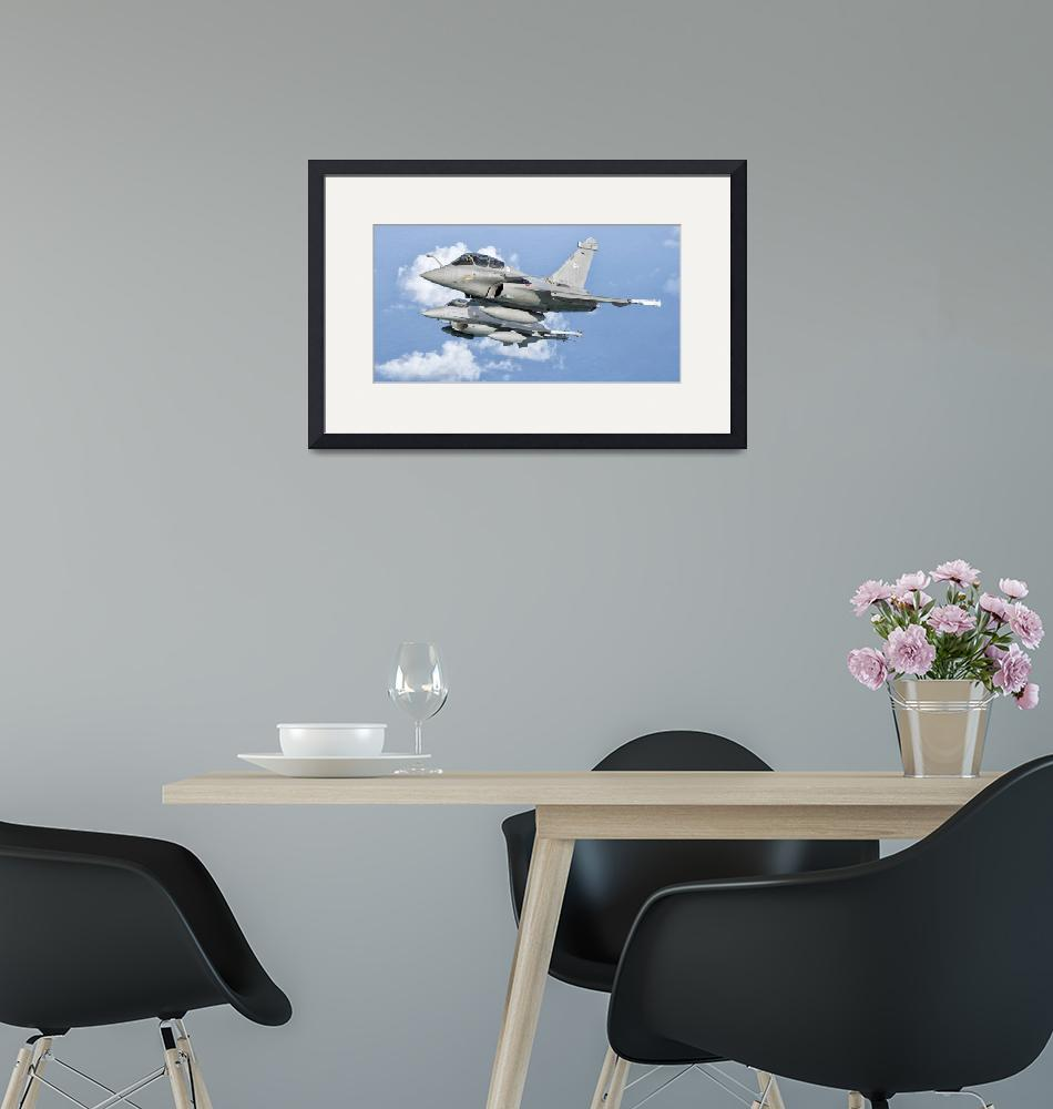 """""""A Dassault Rafale of the French Air Force flys alo""""  by stocktrekimages"""