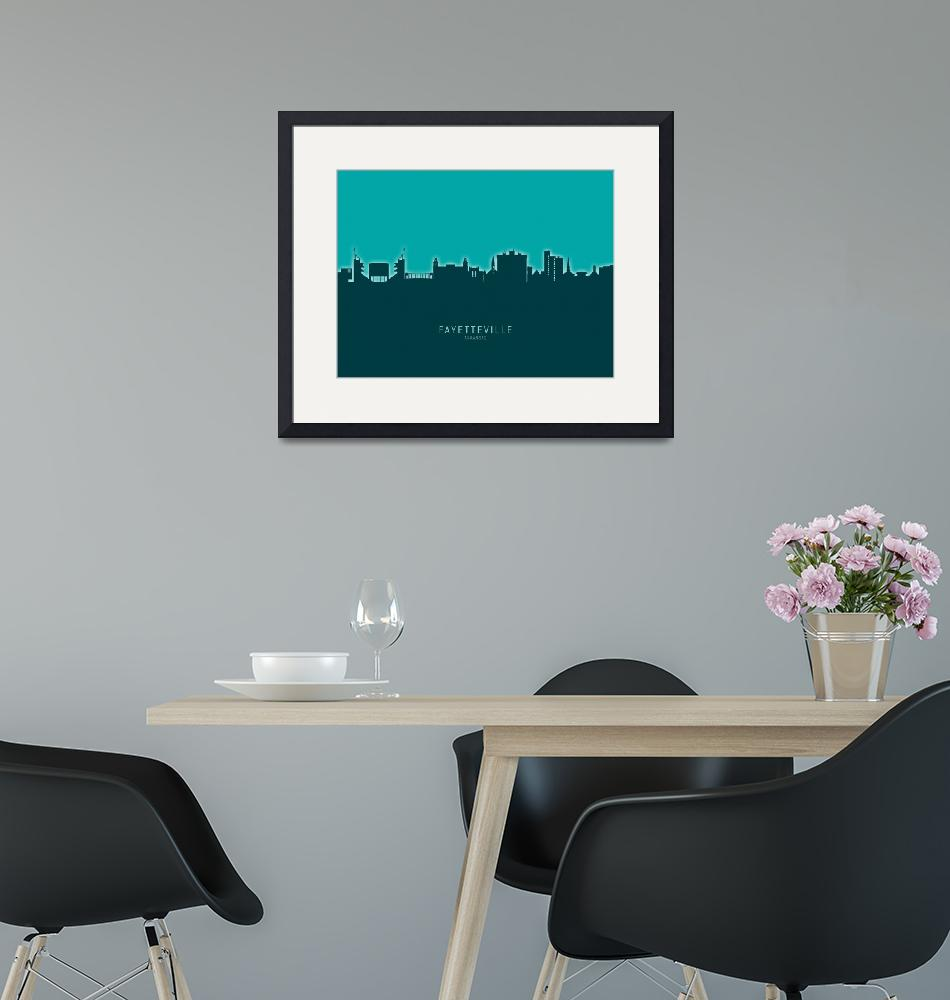 """Fayetteville Arkansas Skyline""  (2020) by ModernArtPrints"
