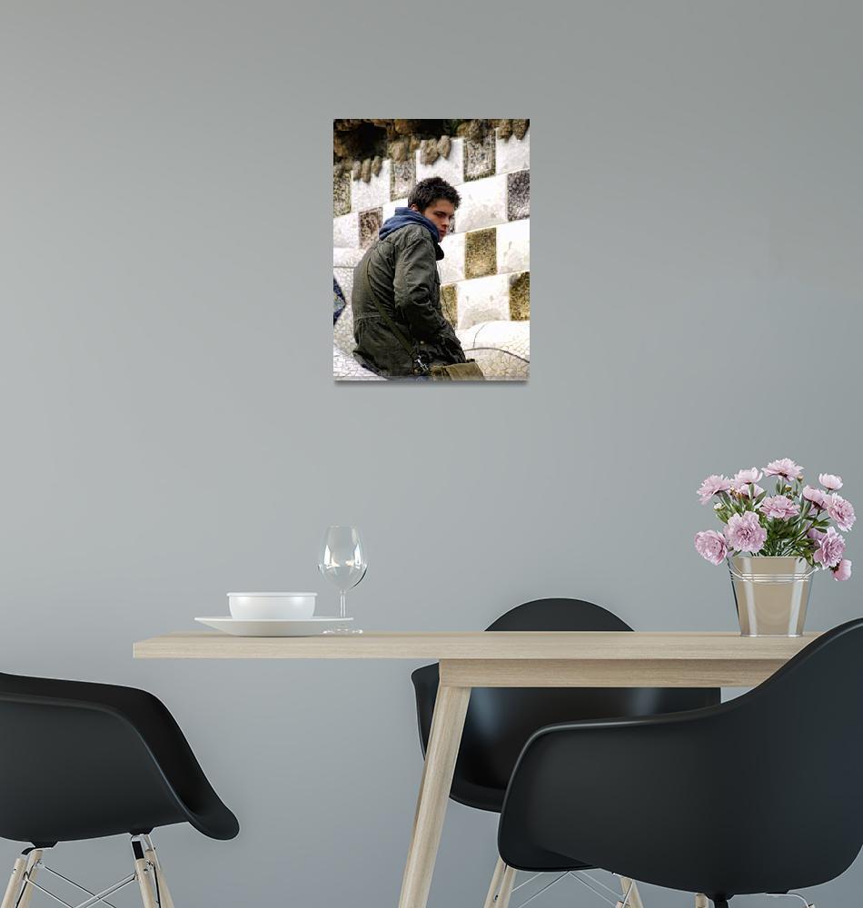 """teenage boy portrait""  (2008) by VivianGerogianni"