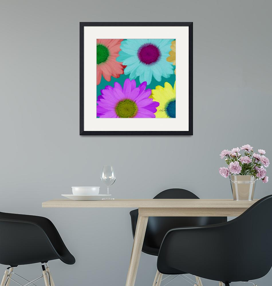 """""""Oversize Daisies Two""""  (2012) by RuthPalmer"""
