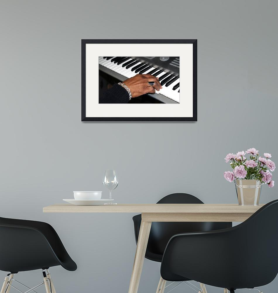 """""""Session Photo 1 Keyboard and Hand by Ginette""""  (2010) by GinetteCallaway"""