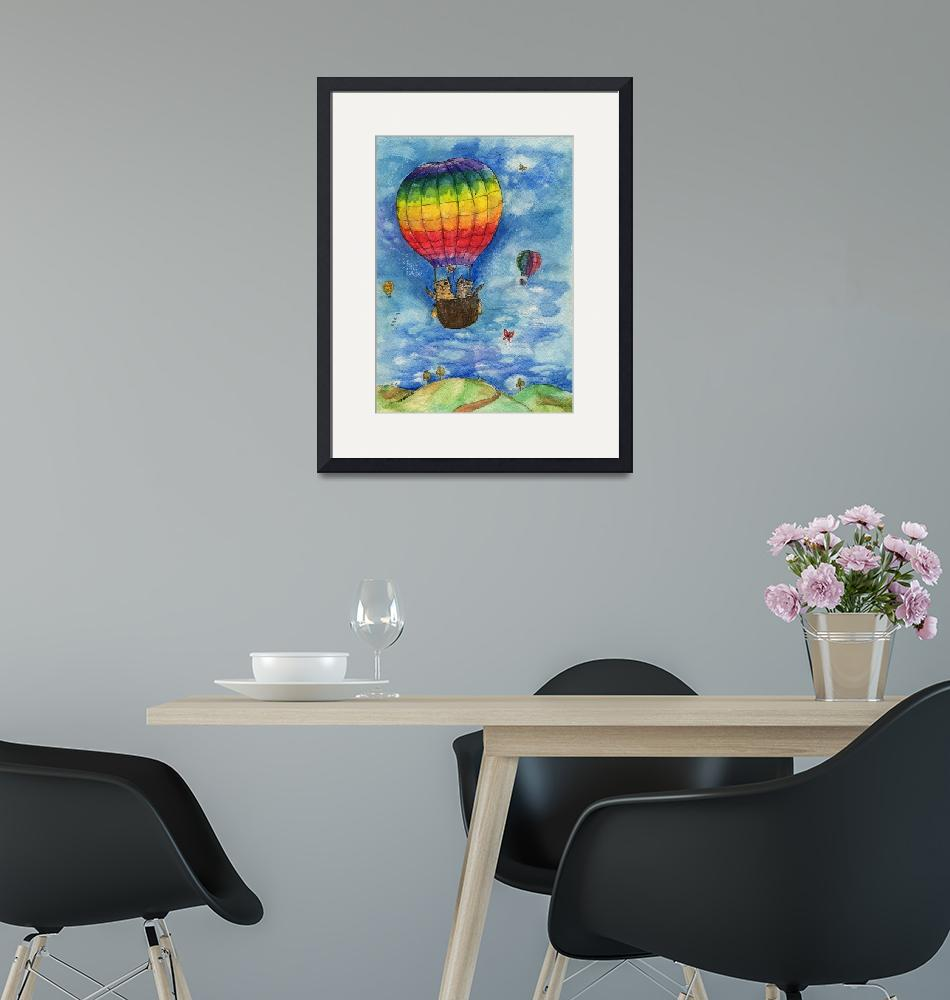 """""""up up and away in a lovely rainbow balloon""""  (2015) by tarantella"""