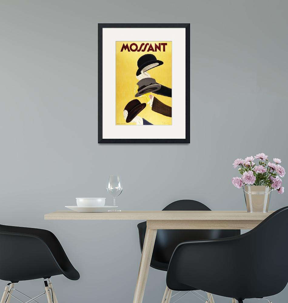 """Mossant Hats by Cappiello Vintage Poster"" by FineArtClassics"