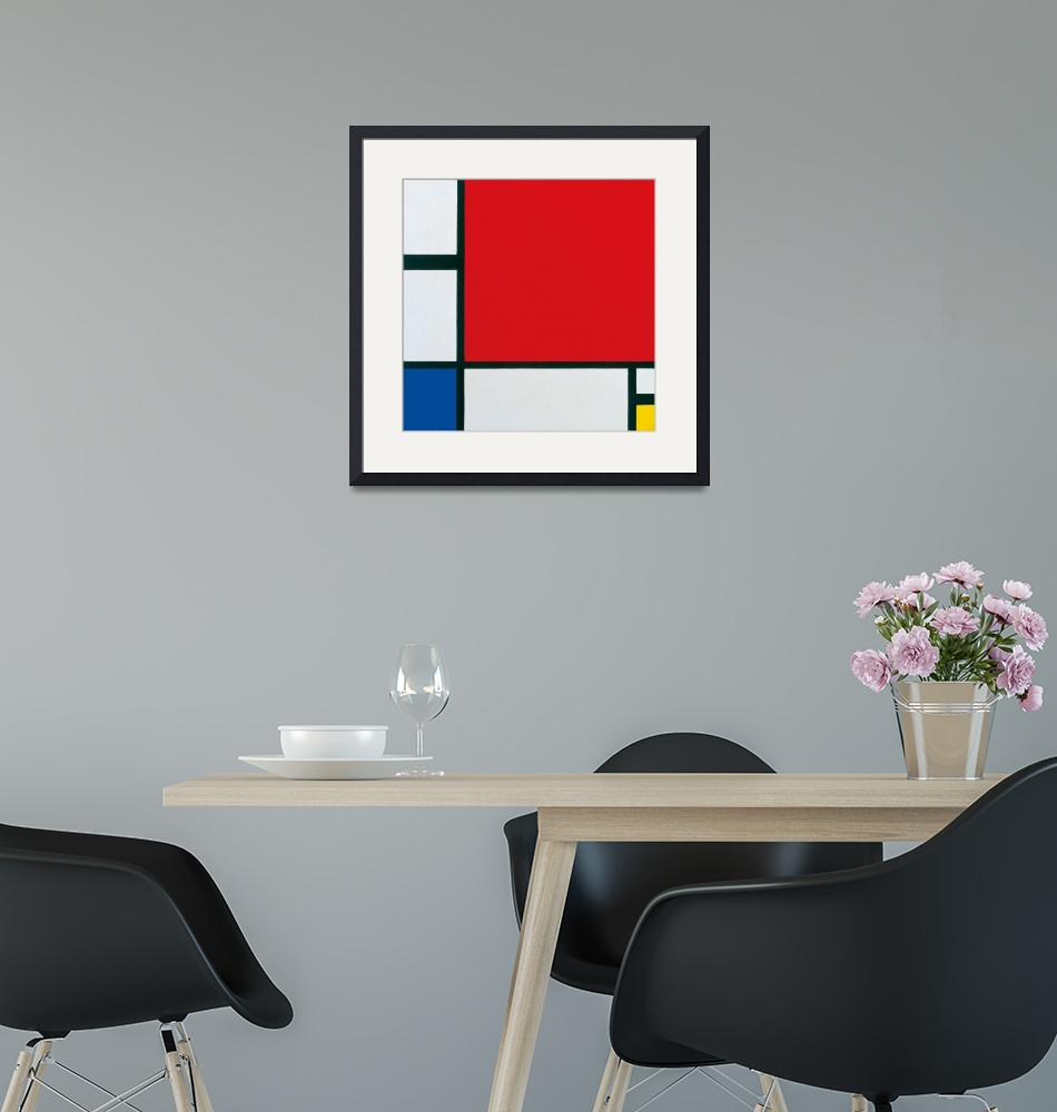 """""""Piet Mondrian~Composition with Red, Blue and Yello""""  by Old_master"""