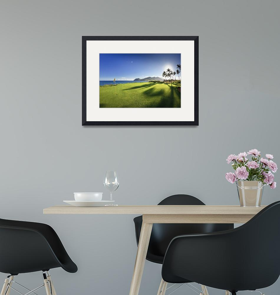 """Golf flag in a golf course""  by Panoramic_Images"