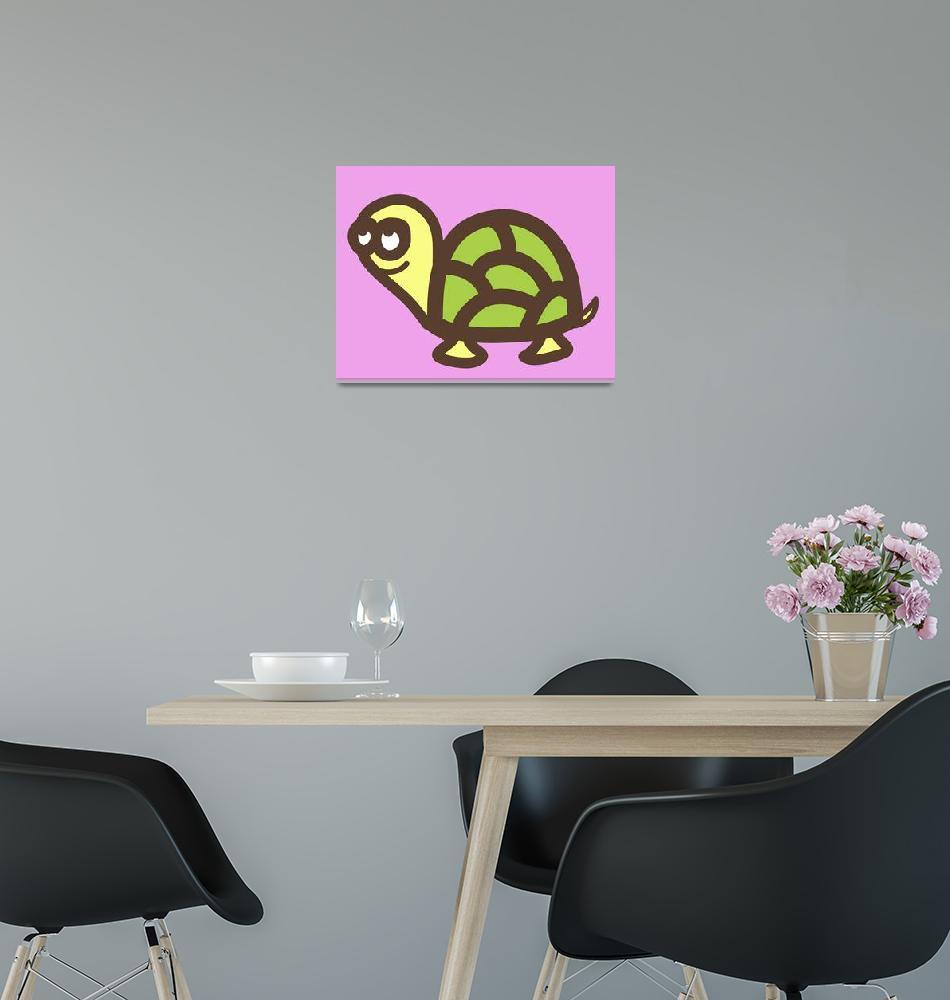 """Nursery art- baby turtle""  (2013) by nursery-art"