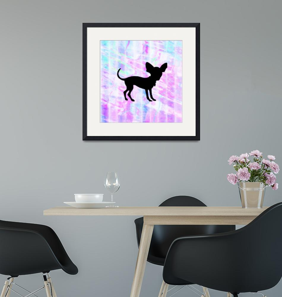 """Chihuahua Silhouette on Homespun Art""  (2013) by SignaturePromos"