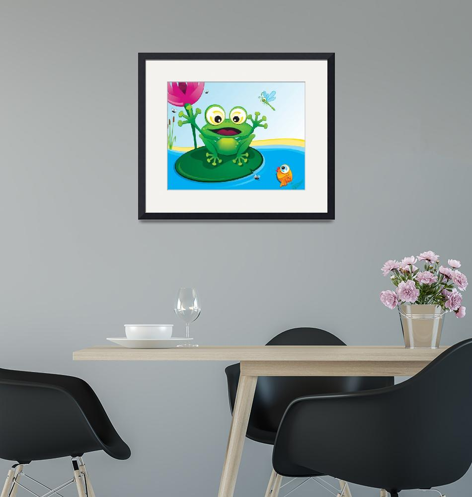 """""""critterz-frog-pond"""" (2008) by edgeplus"""