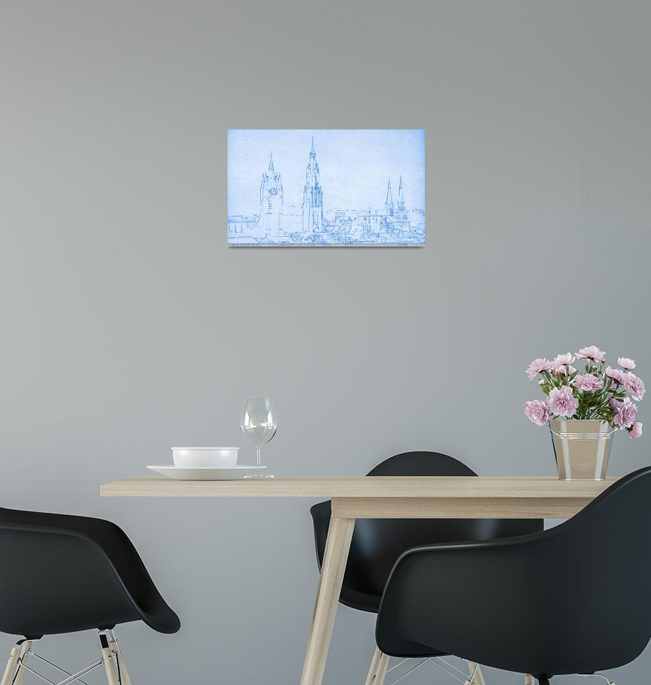 """Delft Netherlands blueprint""  by motionage"