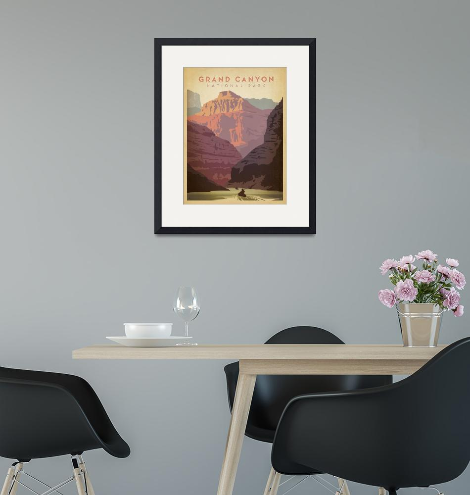 """""""Grand Canyon National Park Retro Travel Poster""""  by artlicensing"""