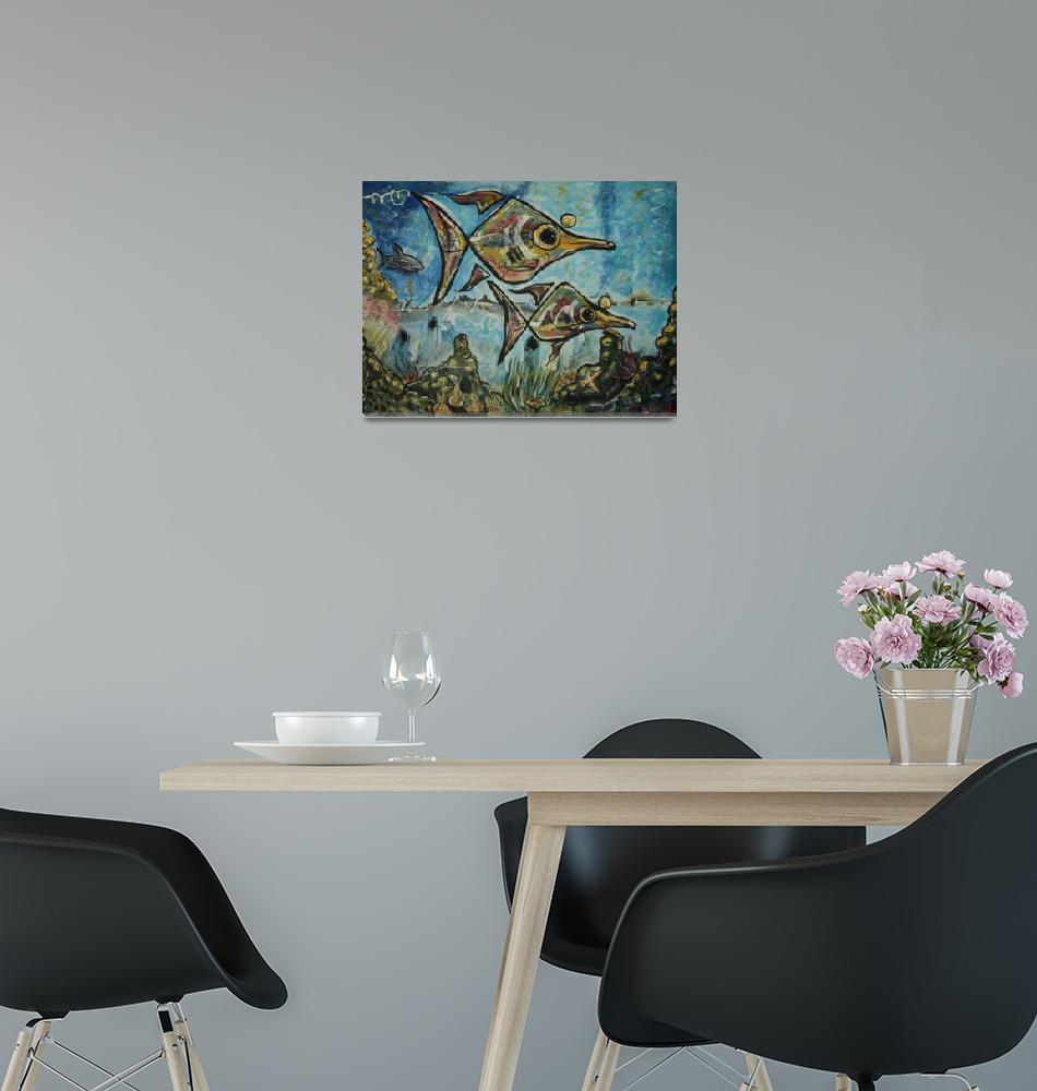 """popeyed fish""  (2010) by jamesritmanartworks"