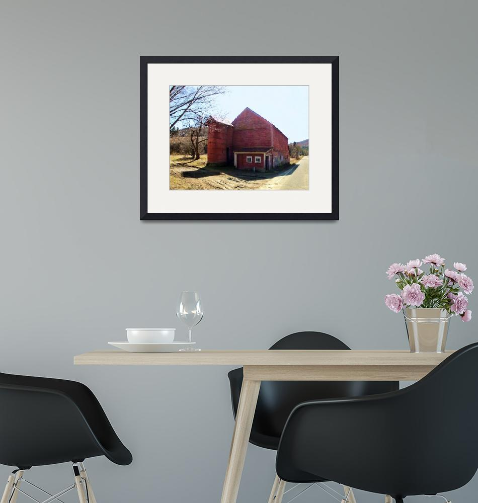 """""""Drive by Shooting No. 33 Vermont Red Barn""""  (2012) by Xine"""