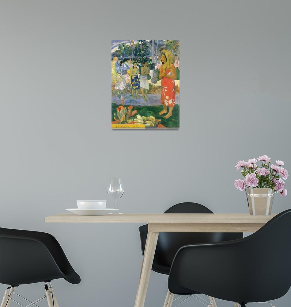 """Hail Mary by Paul Gauguin""  by FineArtClassics"
