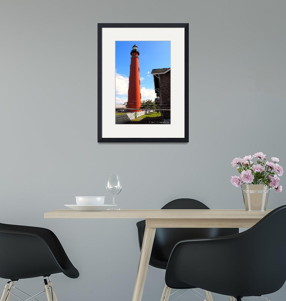 """""""Ponce Inlet Lighthouse in the Afternoon""""  (2009) by ChrisCrowley"""
