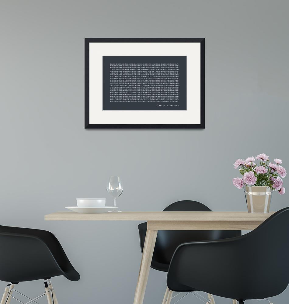 """Pi to 2198 decimal places""  (2011) by ModernArtPrints"