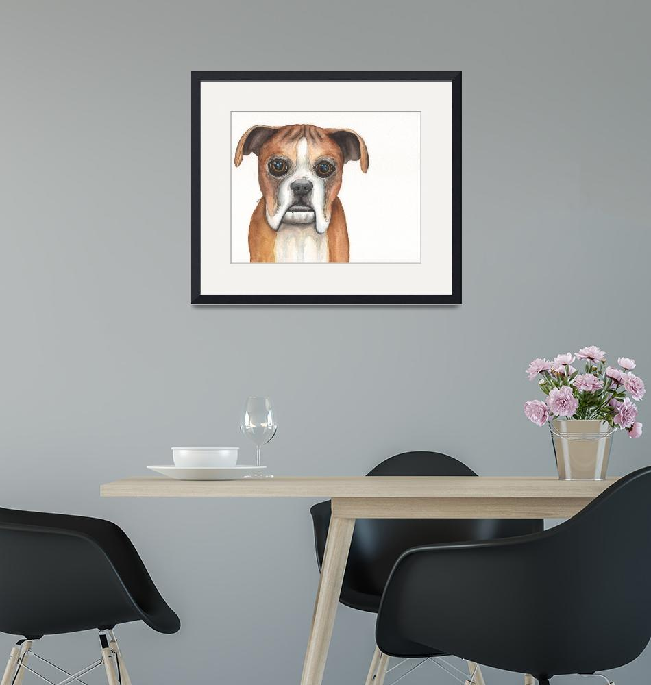 """""""Aimie the Resilient Roller-dog Boxer""""  (2014) by Designomel"""
