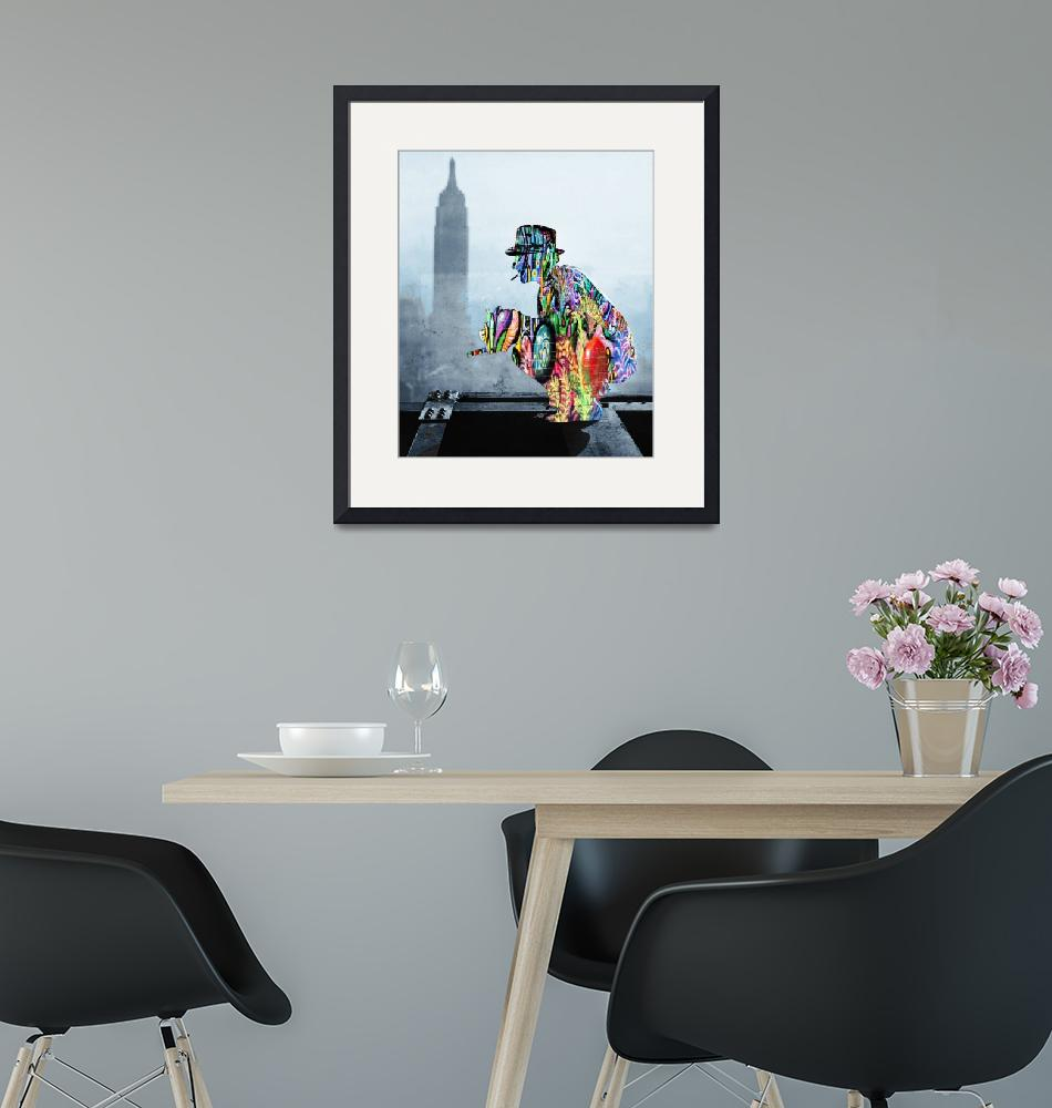 """""""New York Photographer On Unfinished Skyscraper and""""  by RubinoFineArt"""