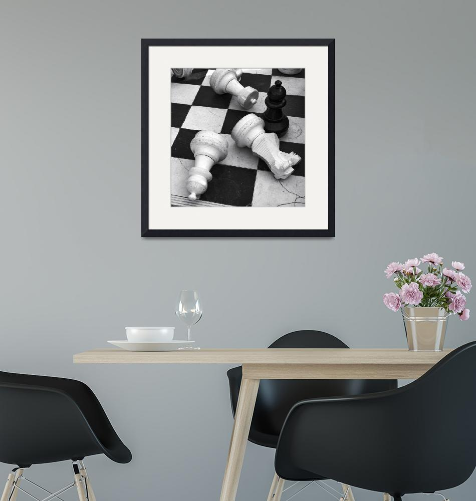 """""""Chess Pieces""""  (2014) by black-and-white"""