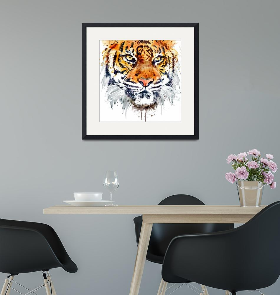"""""""Tiger Face Close-up""""  (2016) by MarianVoicu"""