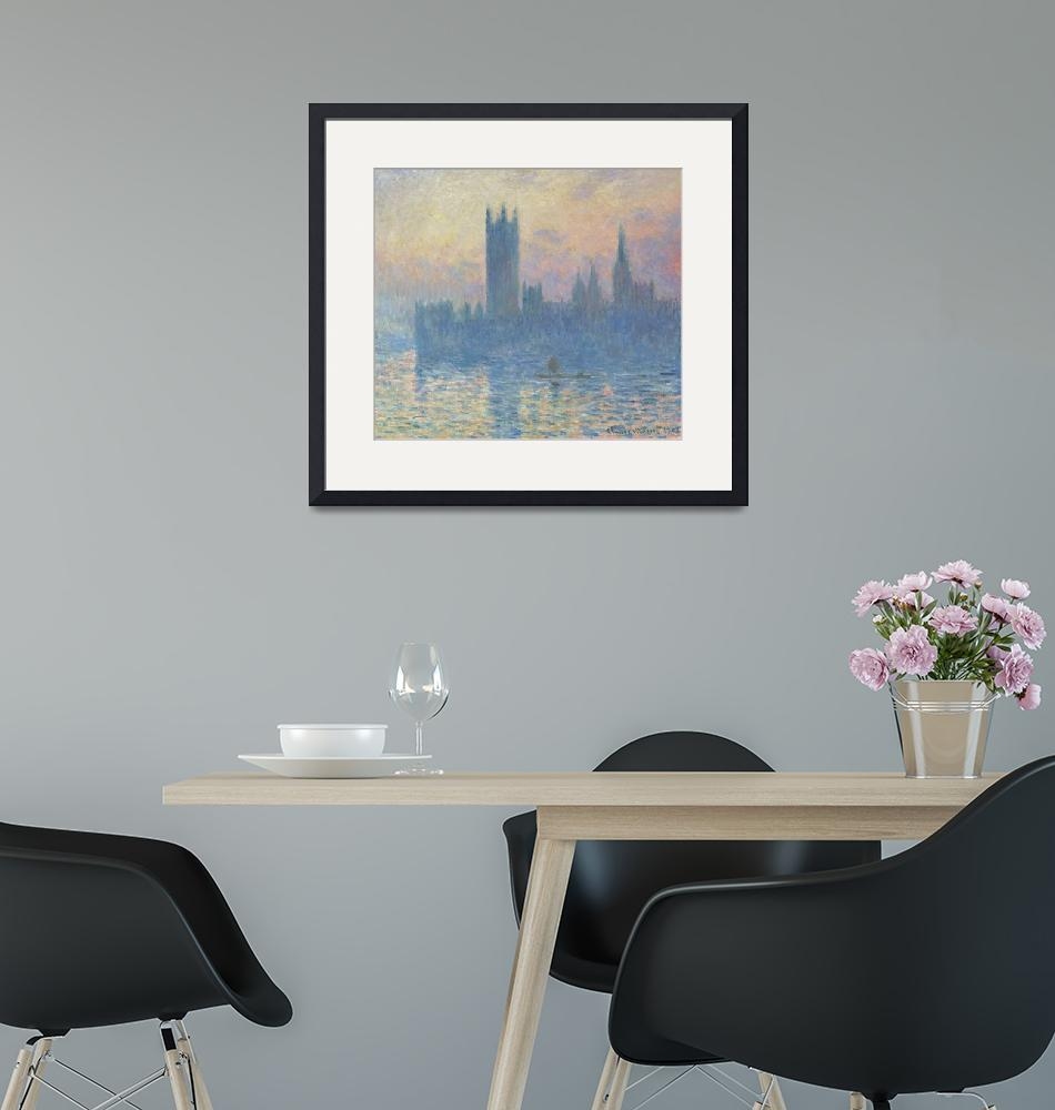 """Houses of Parliament, Sunset by Monet"" by FineArtClassics"