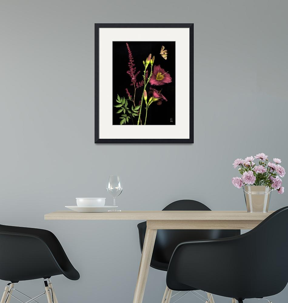 """Vibrant Ribbon Gladiola""  (2005) by thirdeyeimage"