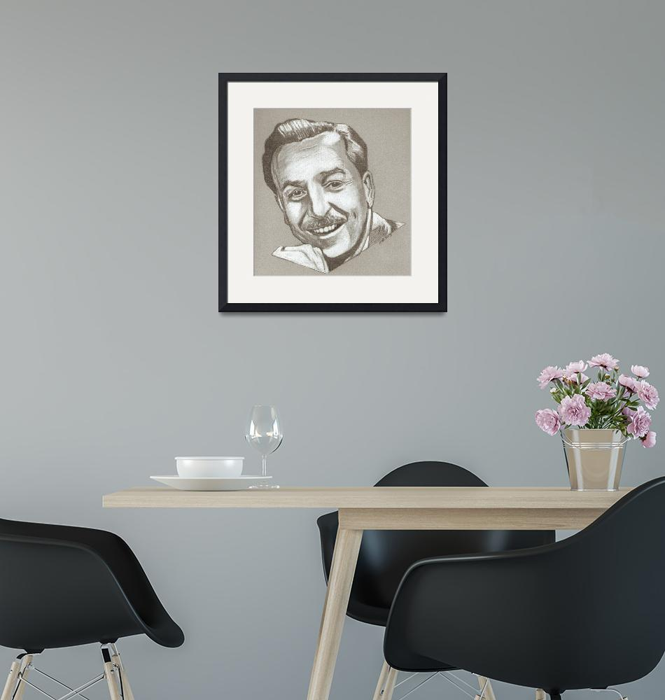 """Walt Disney drawing""  (2013) by RobCrandall"