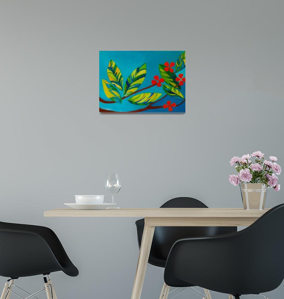 """Orange Flowers""  (2010) by KateLaufert"