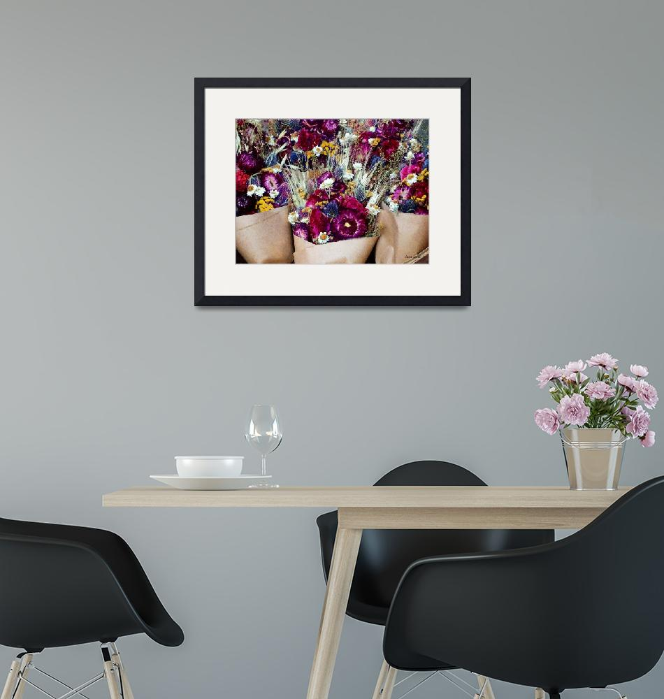 """""""Dried Flower Bouquets""""  by susansartgallery"""