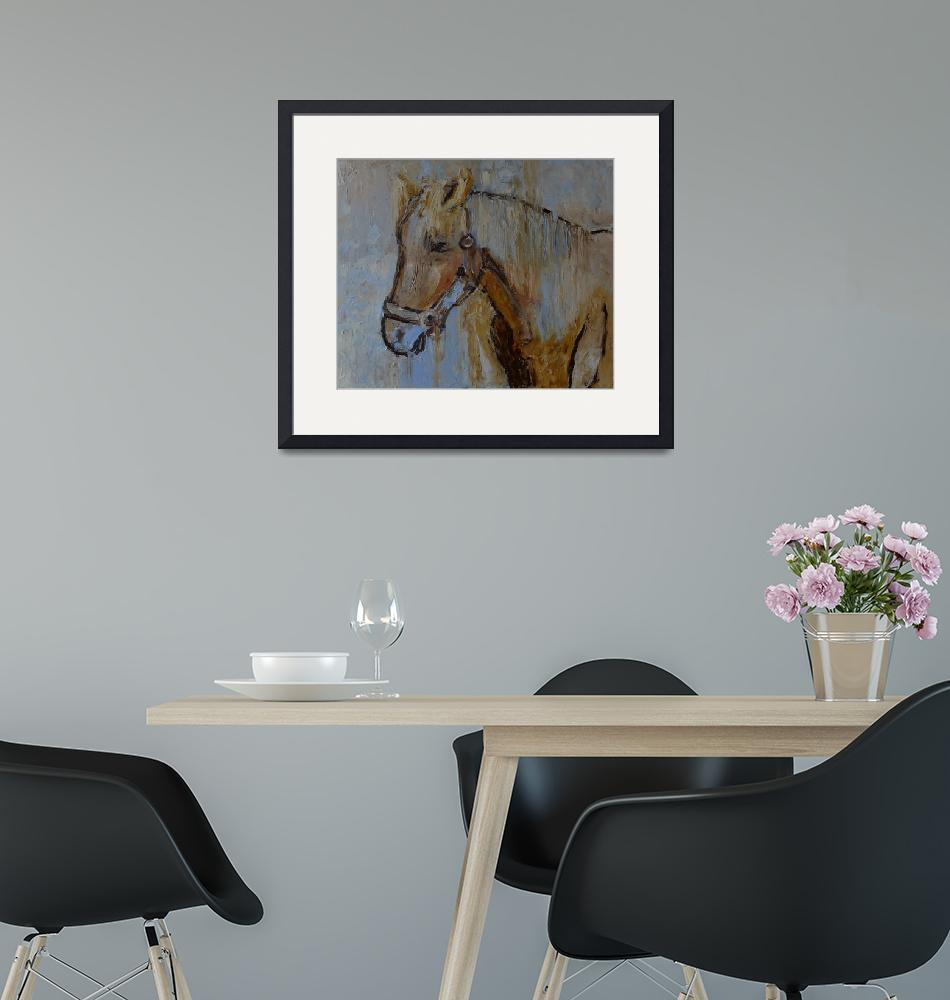 """Horse painting modern artwork""  (2018) by Maggy"
