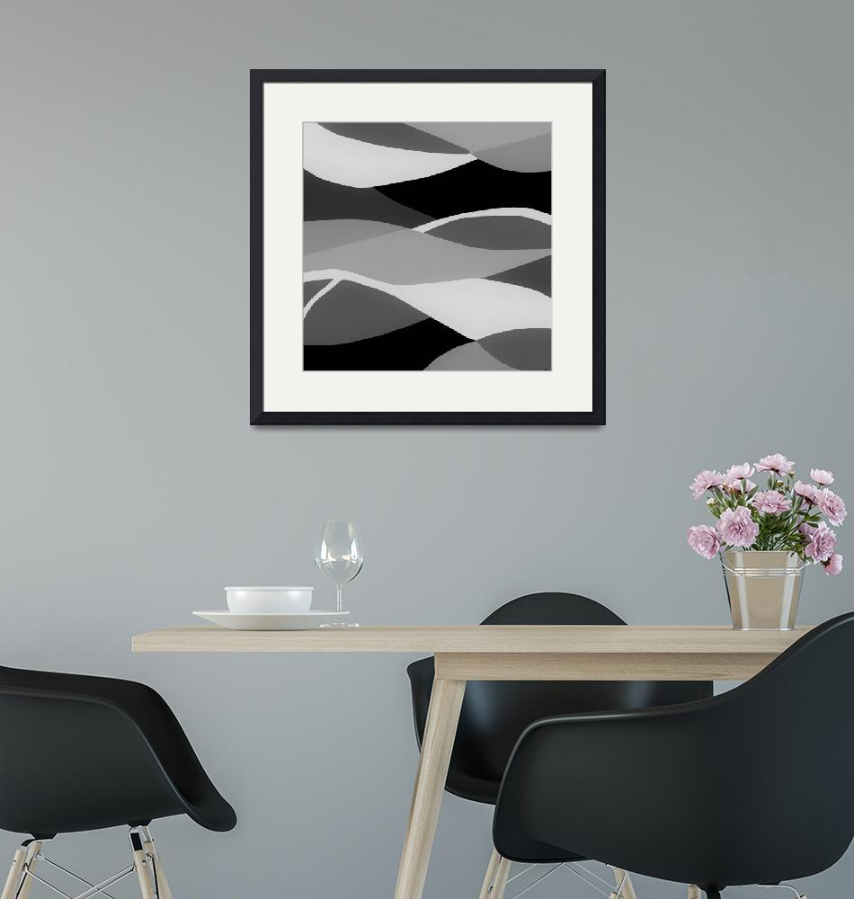 """""""Gray and Pewter Waves""""  by EloiseArt"""