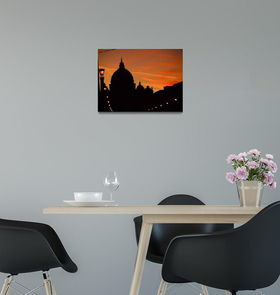"""Vatican Sunset""  (2011) by raetucker"