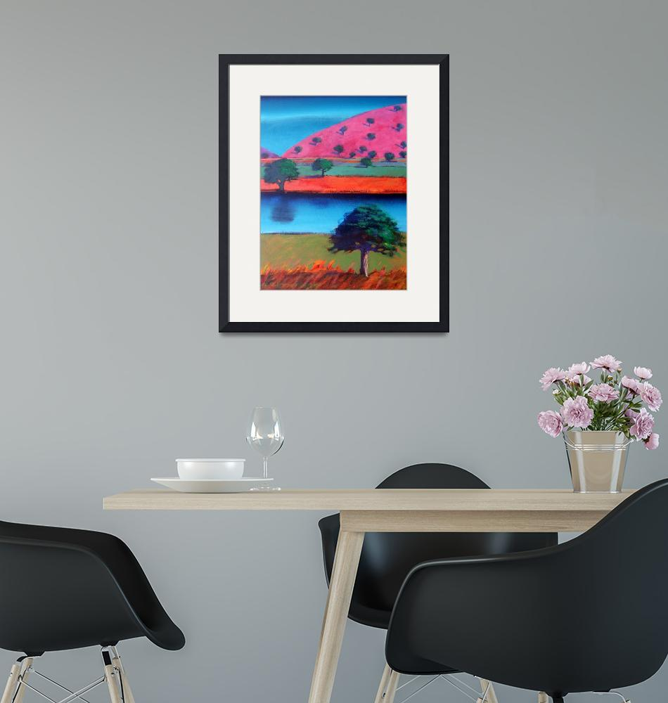 """""""Pink Hill 2""""  by fineartmasters"""