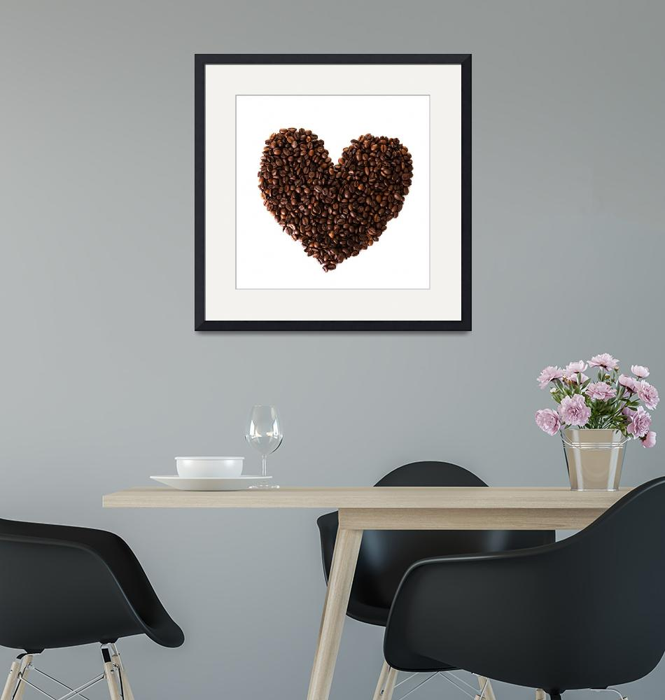 """""""Heart from coffee beans""""  by Piotr_Marcinski"""