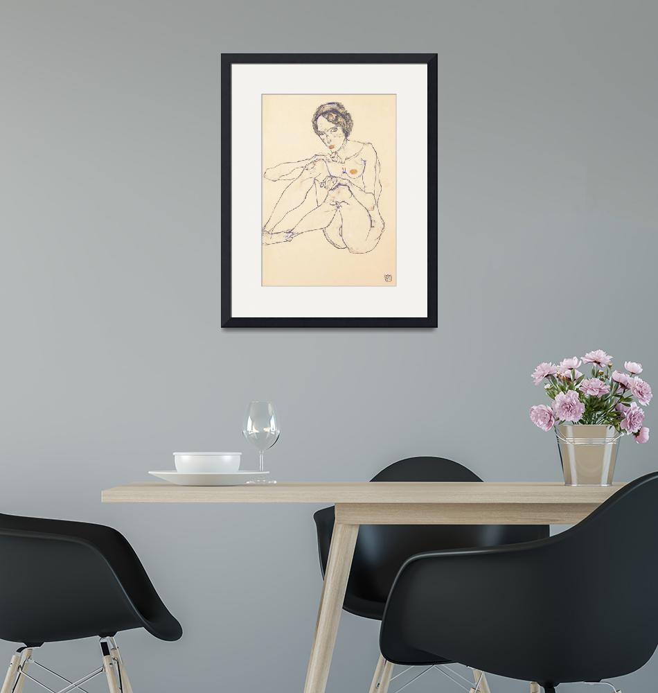 """""""Seated female nude""""  by fineartmasters"""