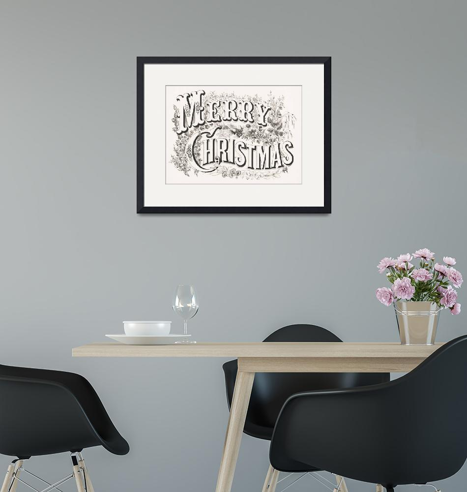 """""""Merry Christmas Lithograph""""  by FineArtClassics"""