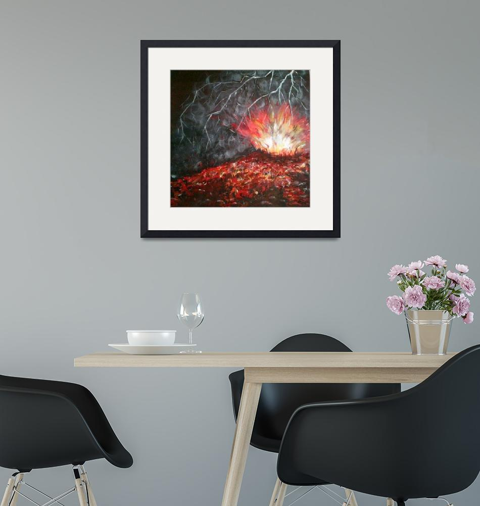 """Icelandic Eruption 1""  (2013) by FinnanArt"