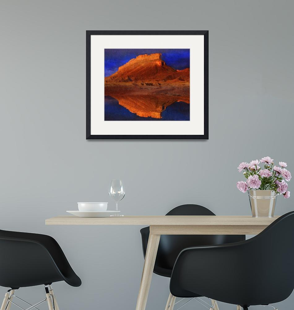 """reflections at miner butte""  (2014) by rchristophervest"