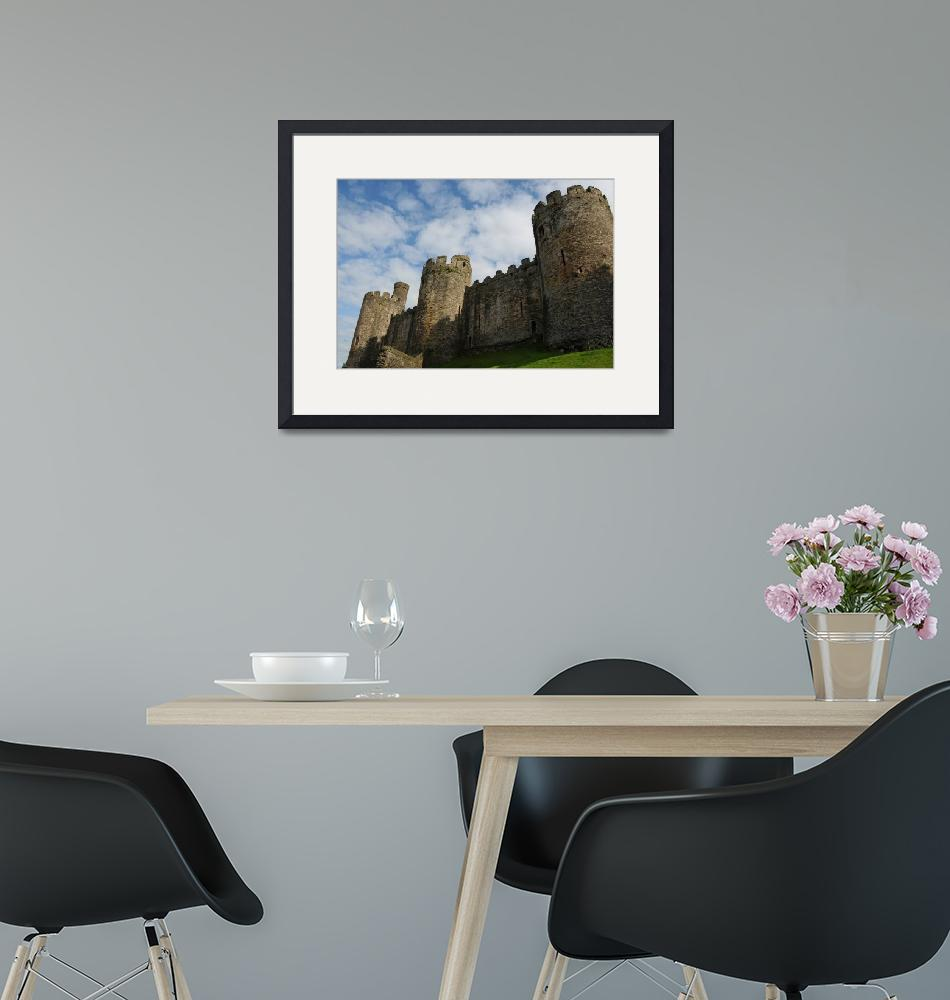 """""""Conwy Castle Outer Wall""""  (2009) by KatRosePhotography"""
