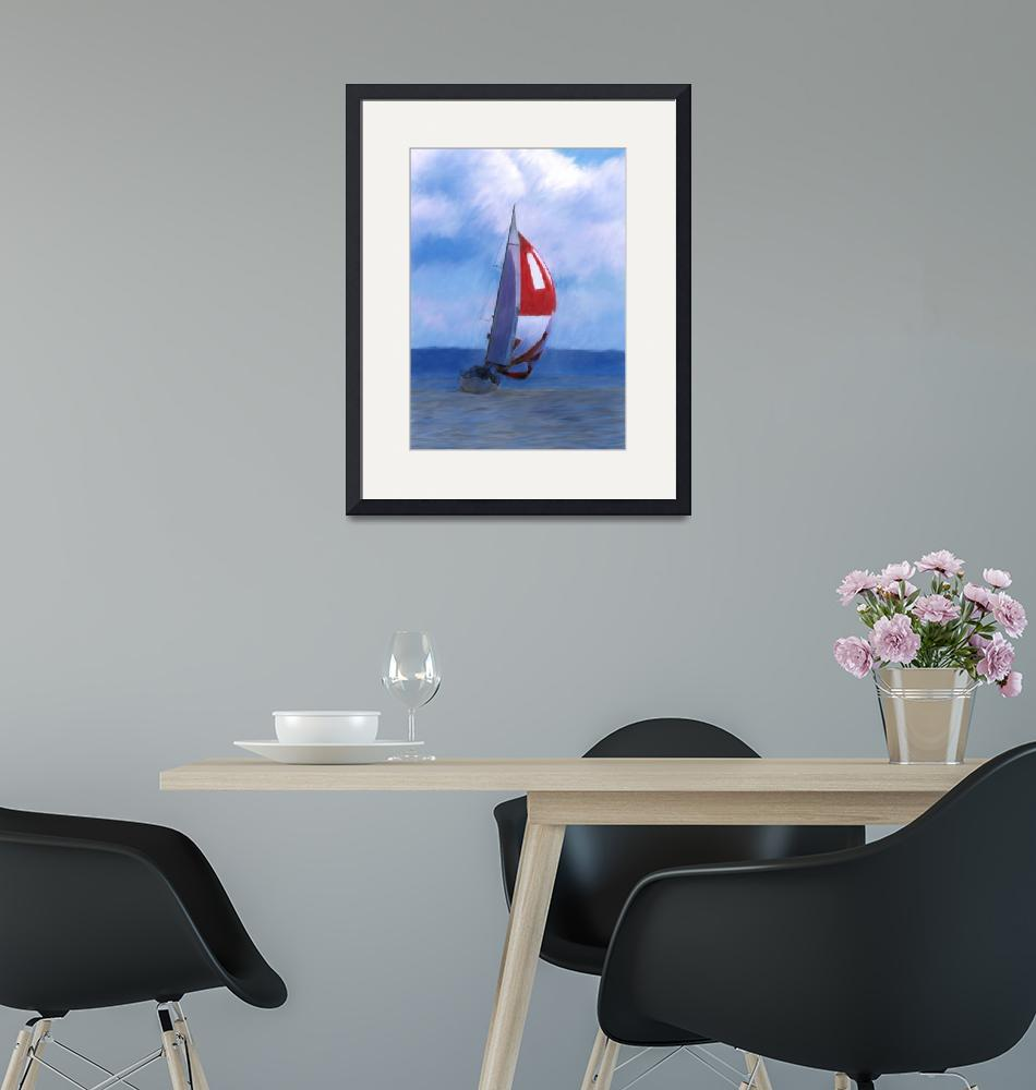 """""""Spinnaker on Puget Sound""""  (2008) by NWExposures"""