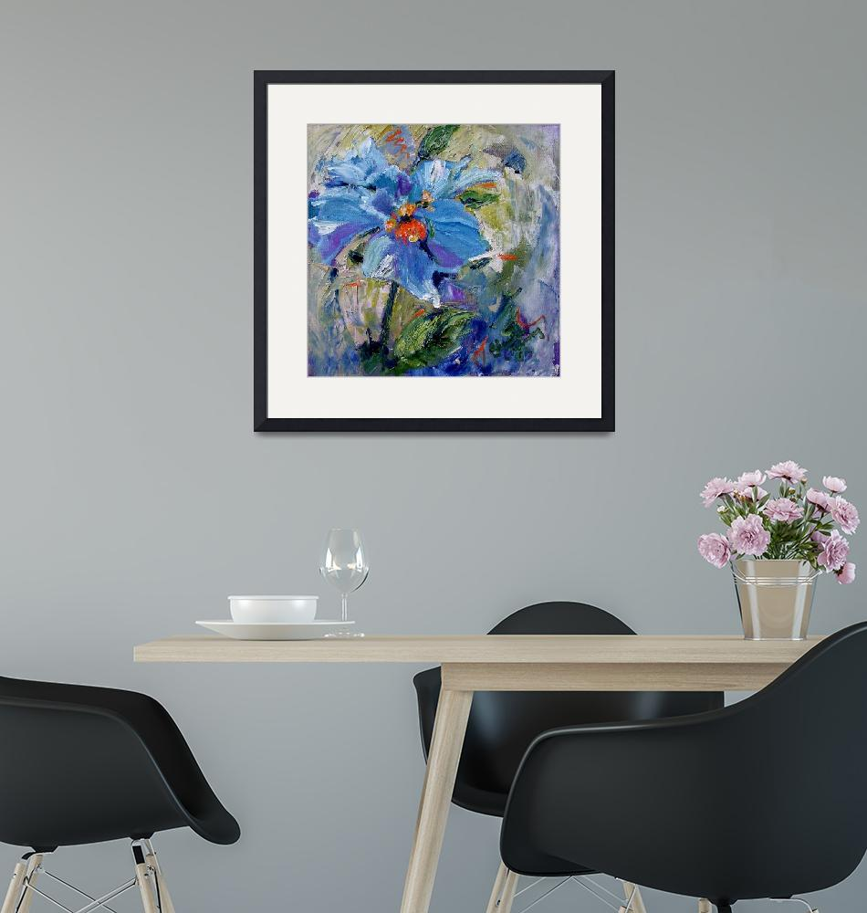 """""""Himalayan Poppy Impressionist Oil Painting""""  (2003) by GinetteCallaway"""