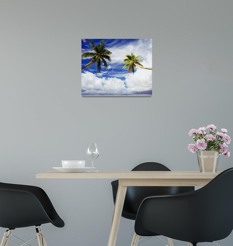 """Micronesia, Marshall Islands, Majuro Atoll, Two Co""  by DesignPics"