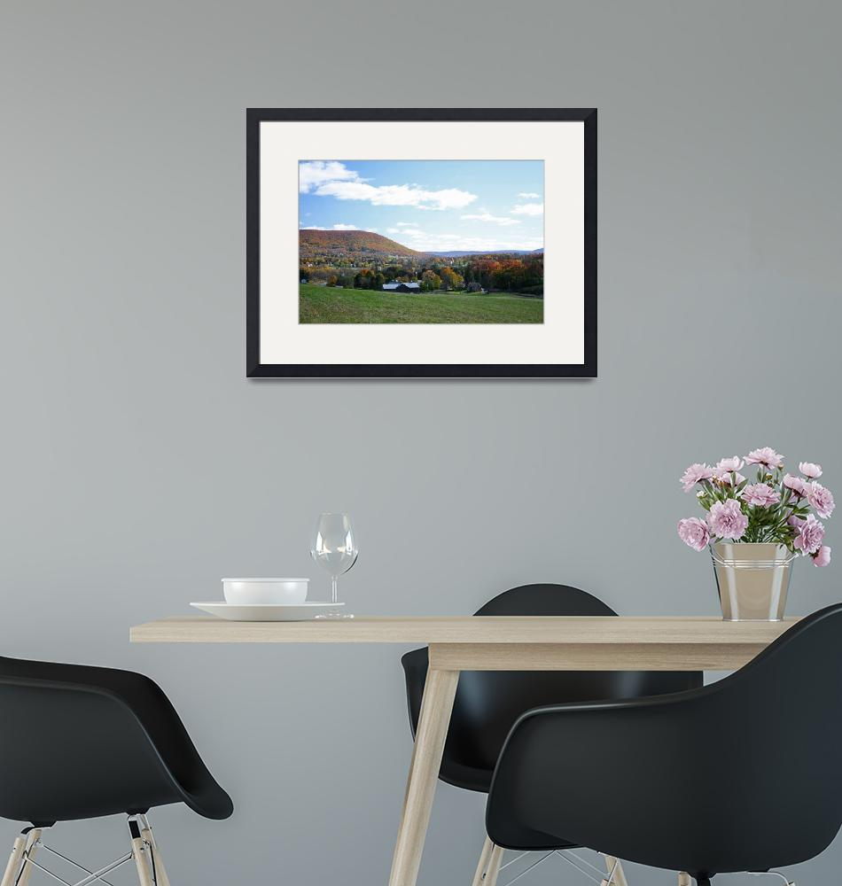 """""""Mount Nittany with Farm in Autumn""""  (2006) by williamames"""