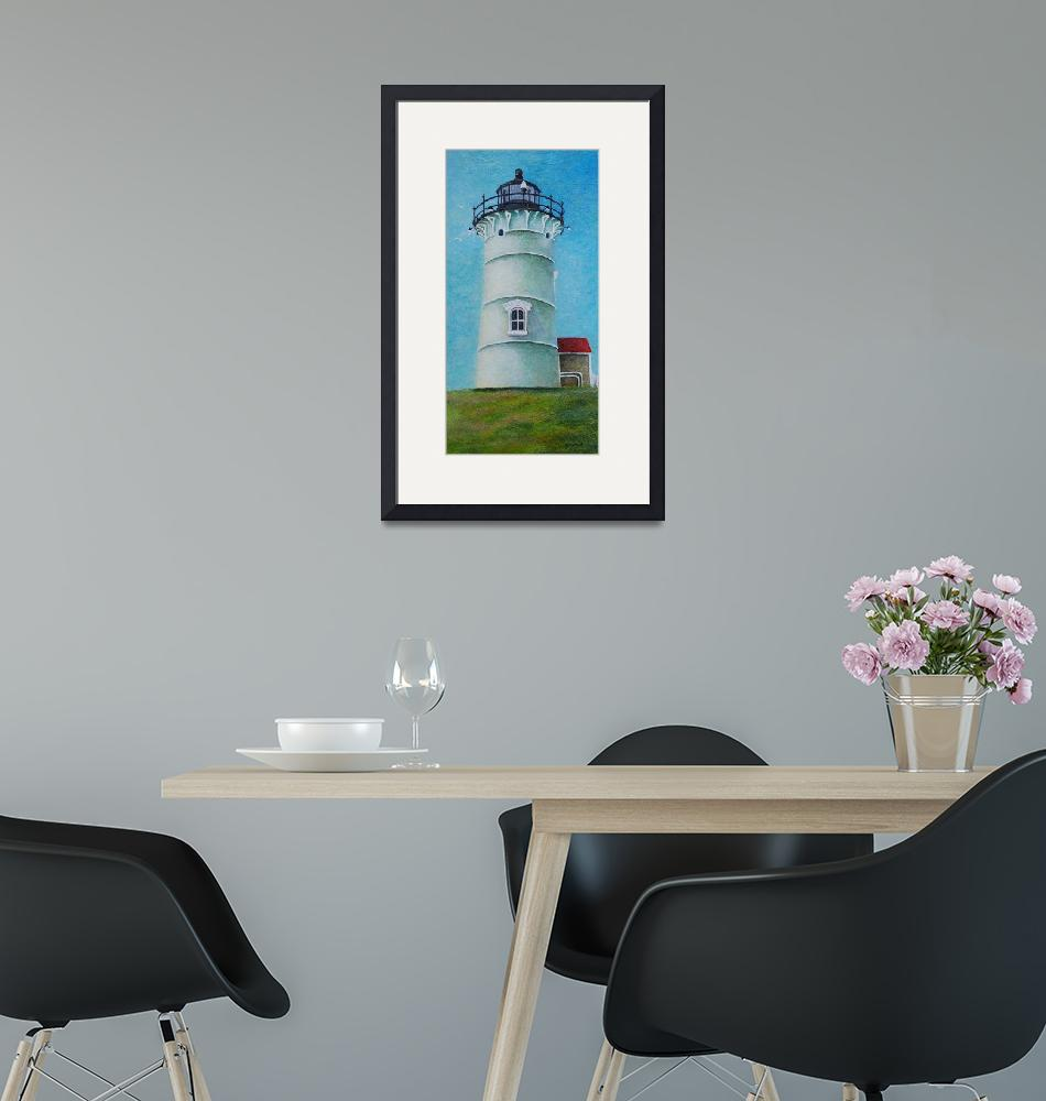 """F13-05RA print Nobska Lighthouse, Woods Hole""  (2013) by raBHA2014"